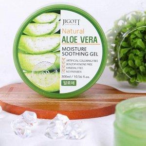 JIGOTT Гель 300мл Смягчающий с экстрактом алоэ вера (Natural Aloe Veral)