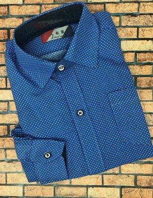 Рубашка Старая цена 555 рублей! Стильная классическая рубашка для мальчиков. Длинный рукав  Соответствие размеров смотрите в дополнительном фото