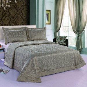 """Покрывало Покрывало 230*250 Сорренто Делюкс м2005 серый 1104-11 Красивое покрывало """"Sorrento Deluxe"""" обязательный атрибут роскошной спальни! Истинная классика итальянского стиля и очарование Вашего до"""