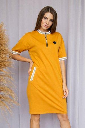 Платье 333/5, горчичный