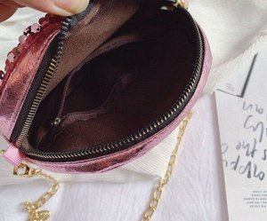 Круглая сумочка с пайетками