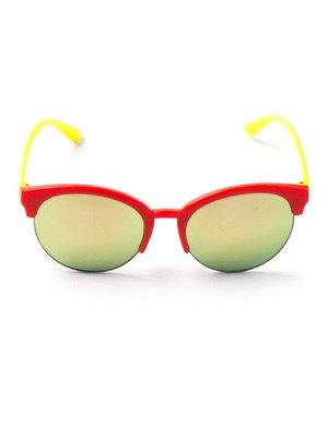 Очки детские желтые заушники, красный