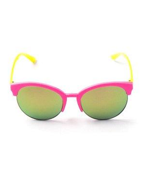 Очки детские желтые заушники, розовый