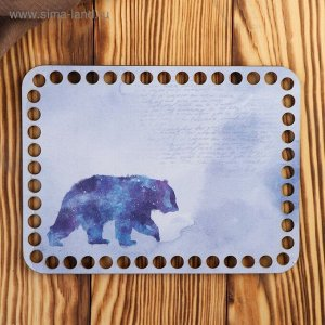 """Заготовка для вязания """"Прямоугольник. Медведь"""" 20х15 см"""