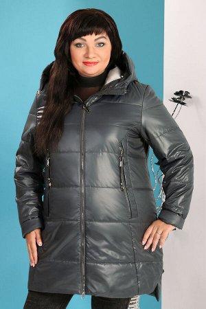 Пальто с капюшоном дутоетемно-бирюзовый