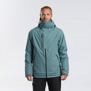 Куртка горнолыжная для фрирайда мужская хаки JKT SKI FR100 WEDZE
