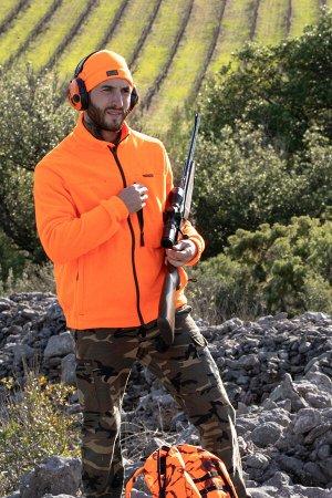 Толстовка муж. флисовая камуфляжная для охоты 300 SOLOGNAC