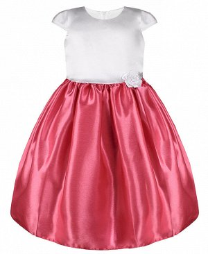 Коралловое нарядное платье для девочки 84353-ДН20