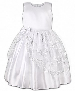 Белое нарядное платье для девочки 82611-ДН18