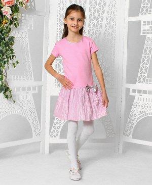 Розовое платье для девочки 81013-ДН18