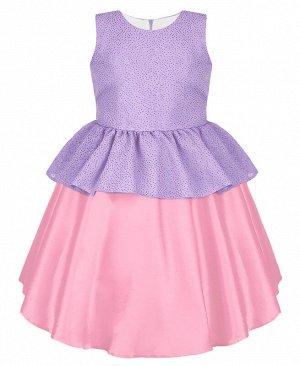 Нарядное розовое платье для девочки 84326-ДН19