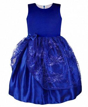 Синее нарядное платье для девочки 82612-ДН18