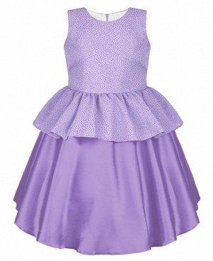 Нарядное сиреневое платье для девочки 84322-ДН19