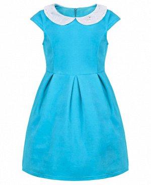 Голубое платье для девочки 82991-ДН18