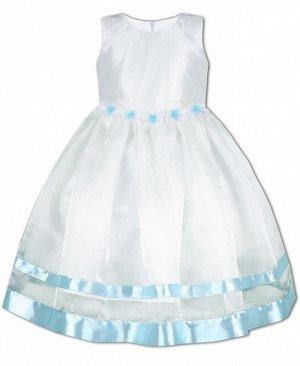 Нарядное белое платье для девочки 84162-ДН19