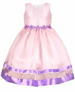 Нарядное розовое платье для девочки 84168-ДН19