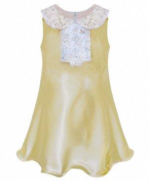 Золотистое нарядное платье для девочки 76445-ДН16
