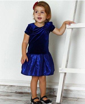 Синее нарядное платье для девочки 76173-ДН15