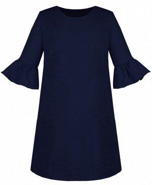 Платье для девочки синего цвета с воланами 83831-ДОШ19