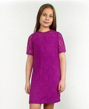 Пурпурное нарядное платье для девочки 64674-ДЛ15