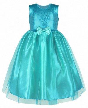 Бирюзовое нарядное платье для девочки 82517-ДН19