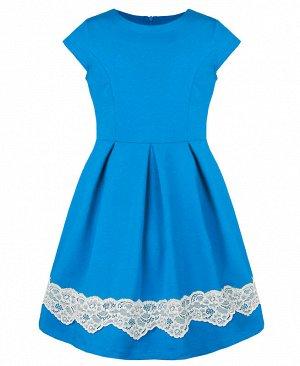 Бирюзовое платье для девочки 81067-ДО18