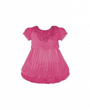 Малиновое нарядное платье для девочки 2821-ПСДН16