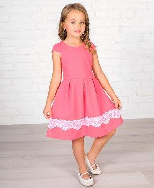 Розовое платье для девочки 81068-ДО18