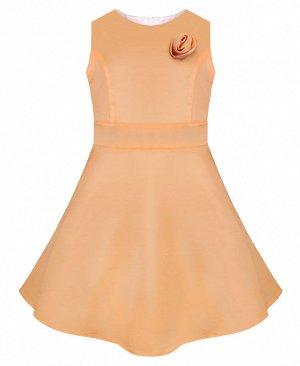 Бежевое нарядное платье для девочки 76434-ДН15