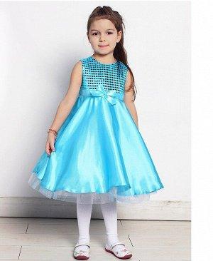 Бирюзовое нарядное платье для девочки 76198-ДН16