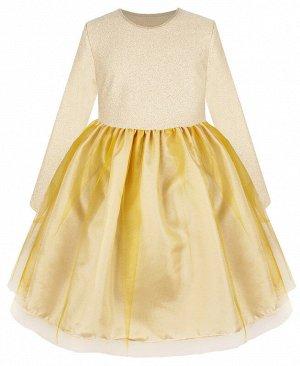 Молочное нарядное платье для девочки 81092-ДН19