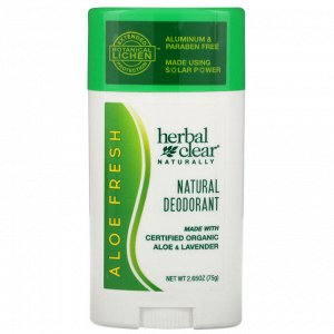 21st Century, Herbal Clear Naturally, Natural Deodorant, Aloe Fresh, 2.65 oz (75 g)