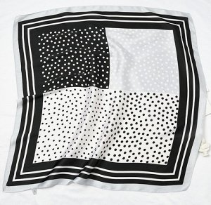 Платок 70*70см Черный/серый/белый