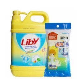 Вафельные полотенца весенний принт, декоративные подушки — Бытовая химия LIBY — Для посуды