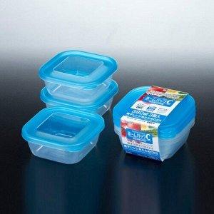Набор контейнеров  синий 3*380мл