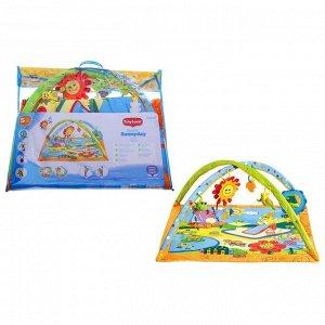 Коврик развивающий «Солнечный денёк», дуги, 5 игрушек