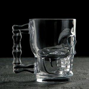 Кружка для пива «Череп», 520 мл