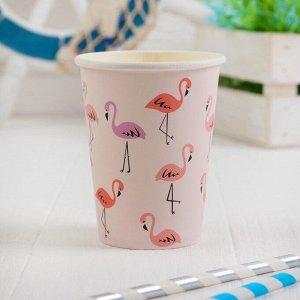 Стакан бумажный «Фламинго», 250 мл, набор 6 шт.
