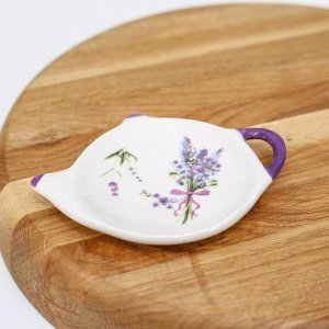 Подставка под чайный пакетик Доляна «Лаванда», 12Х8,4 см