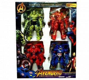 Набор Мстители-трансформеры 4 героя
