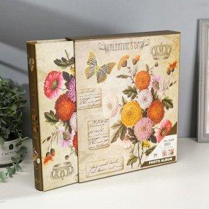 """Фотоальбом магнитный на 20 листов """"Королевские цветы"""" в коробке, микс"""