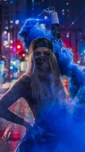 """Дым цветной синий 17 см 1,2"""" 60 сек."""