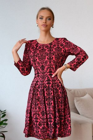 Платье Яркая новинка! Такой цвет особенно актуален в осенне время, он способен преобразить, добавить нежности и легкости.Модель полуприлегающего силуэта, с расклёшенной юбкой, выполнена из трикотажной