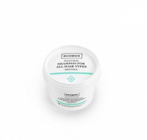 ECOBOX Натуральный густой бальзам для всех типов волос Ментол, 120 мл.