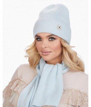 Фиалка флис (колпак+шарф) Комплект