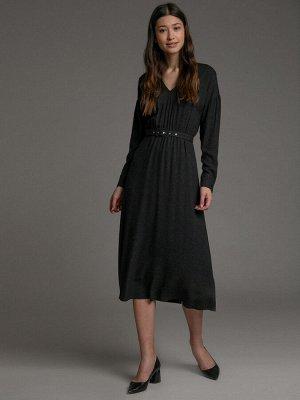 """Платье Размерный ряд: 42-52 Состав ткани: Вискоза 100% Длина: 120 См. Описание модели Романтичный горошек. Платье с мелким контрастным принтом """"горошек"""" - одна из самых модных вещей весенне-летнего се"""