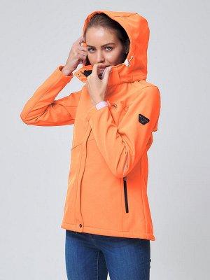Ветровка MTFORCE женская оранжевого цвета 2038O