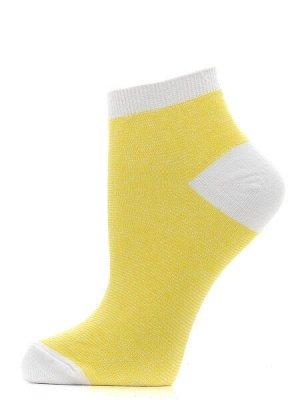 C17 носки женские, бело/желтые (10шт)
