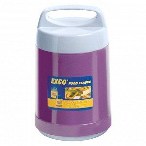 """Термос из нержавеющей стали """"FOOD"""" с широкой горловиной 1,5л, стеклянная колба, крышка с пластмассовой ручкой, сохраняет тепло 6 часов, """"EXCO"""" (Китай)"""