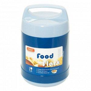 """Термос из нержавеющей стали """"FOOD"""" с широкой горловиной 1,2л, стеклянная колба, крышка с пластмассовой ручкой, сохраняет тепло 6 часов, """"EXCO"""" (Китай)"""